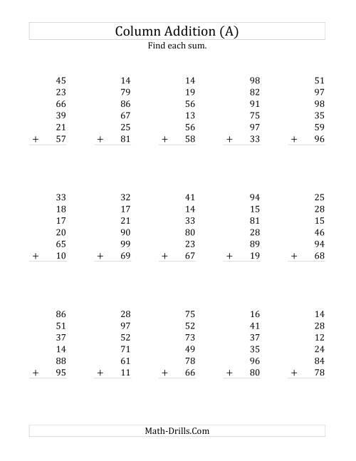Uncategorized Maths Drill Worksheets math drills addition worksheets drill arithmetic arithmetic