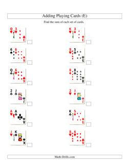 Adding 2 Playing Cards (E)
