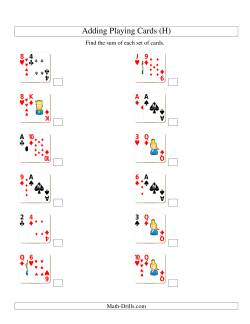 Adding 2 Playing Cards (H)