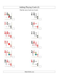 Adding 2 Playing Cards (J)