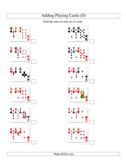 Adding 3 Playing Cards (D)
