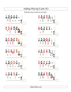 Adding 5 Playing Cards (E)