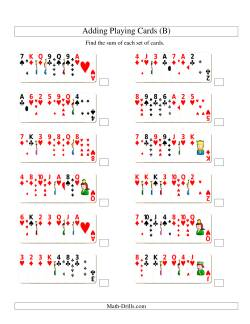 Adding 7 Playing Cards (B)