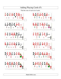 Adding 7 Playing Cards (F)