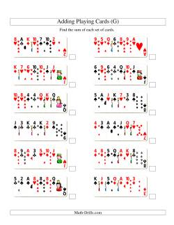 Adding 7 Playing Cards (G)