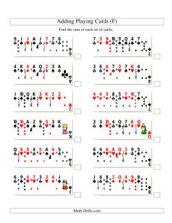 Adding 8 Playing Cards (F)