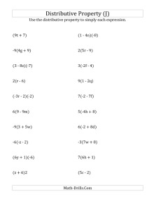 Distributive Property Worksheets Pdf Free Worksheets Library ...
