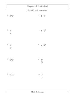 Mixed Exponent Rules (All Positive)