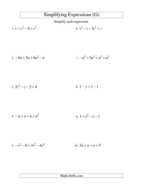 Simplifying Algebraic Fractions Worksheet Simplifying Algebraic – Simplifying Algebraic Fractions Worksheets