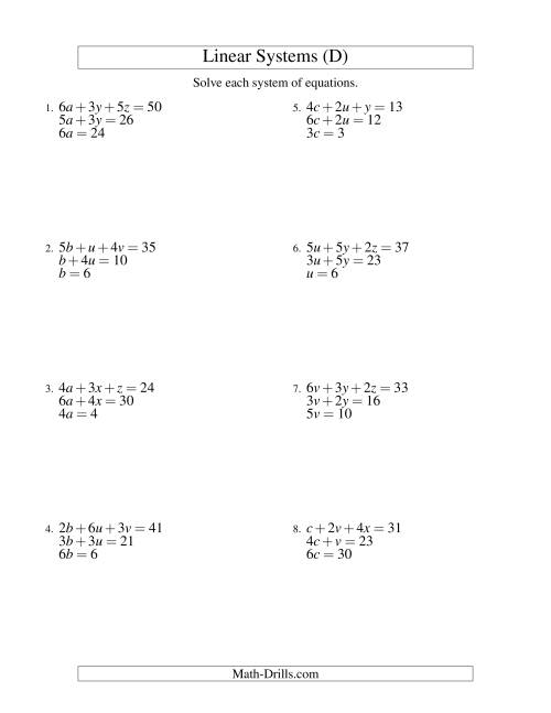 solving system of equations by elimination worksheet - Termolak
