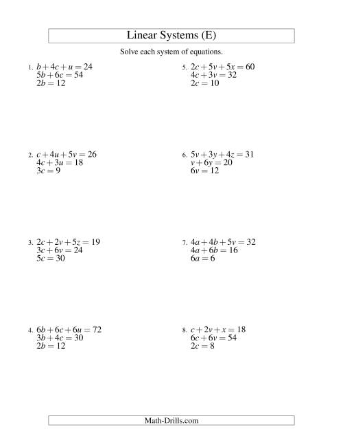 Equation Worksheet Generator Delibertad – Math Worksheet Generator Algebra