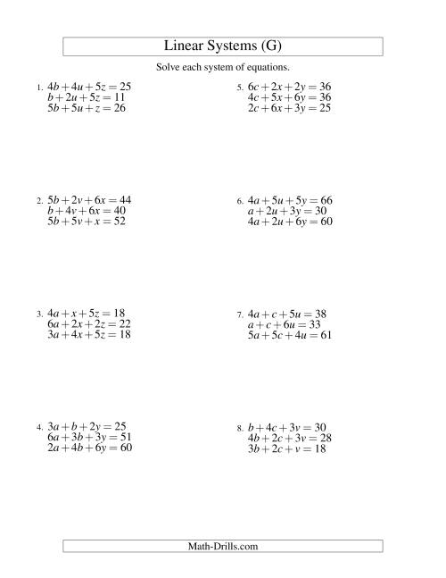 math variables worksheet terms and multiple variables systems of linear equations three variables g algebra worksheet