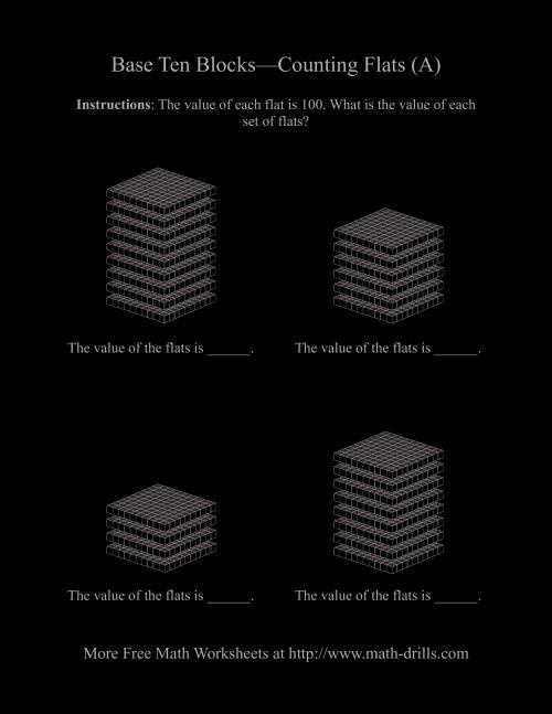 math worksheet : counting flats a base ten blocks worksheet : Base Ten Math Worksheets