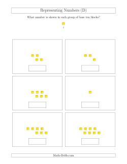 representing numbers units d base ten blocks worksheet. Black Bedroom Furniture Sets. Home Design Ideas
