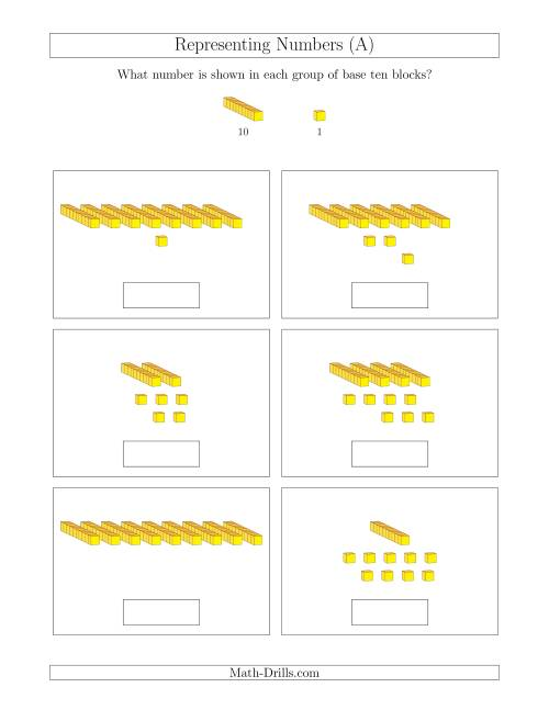 math worksheet : representing numbers to 99 with base ten blocks a base ten  : Base Ten Math Worksheets