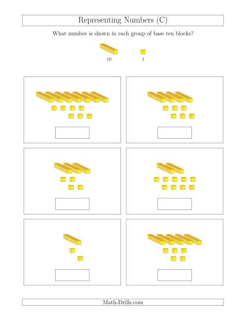 Base Ten Blocks Worksheets number line printable – Base Ten Worksheets