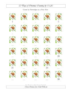 12 Days of Christmas Counting by Partridges in a Pear Tree (A)
