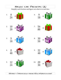 Shake the Present Simplified Fractions (A)