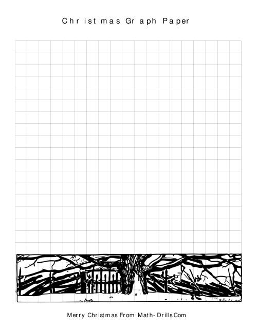The Christmas Graph Paper (A) Christmas Math Worksheet