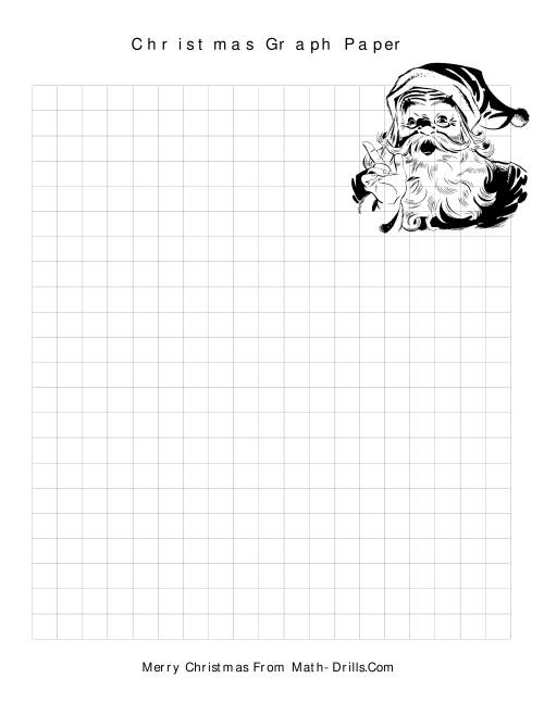 The Christmas Graph Paper (C) Math Worksheet