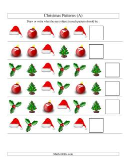 One-Attribute (Shape) Christmas Picture Patterns Set 1 (A)