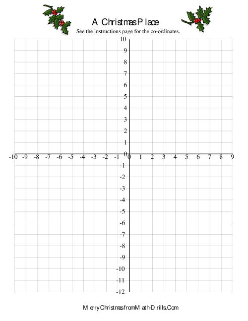 CoOrdinate Geometry Activity – Fun Christmas Math Worksheets
