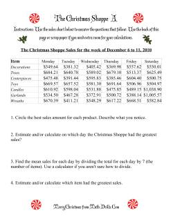 The Christmas Shoppe (Numbers under $1000)