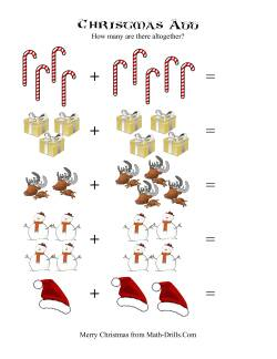 Christmas Addition Worksheets
