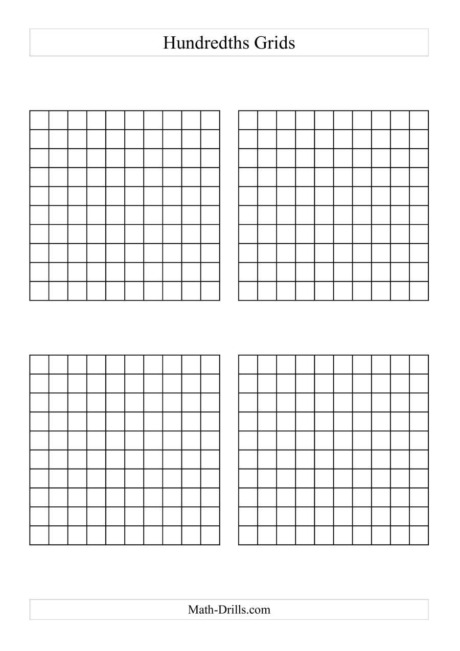 4 x hundredths grids a. Black Bedroom Furniture Sets. Home Design Ideas