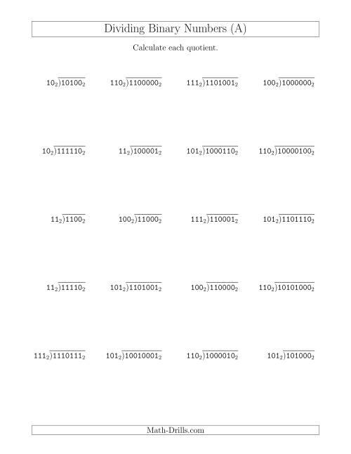 binary divider pdf