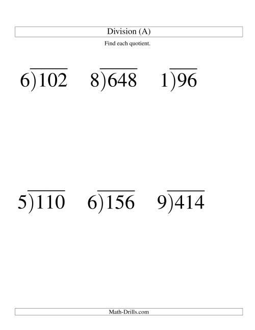 Simple Long Division Worksheets 3rd grade math multiplication – Worksheets for Long Division
