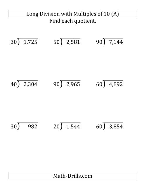 Division With Decimal Remainders Worksheets As Well As Math Worksheets ...