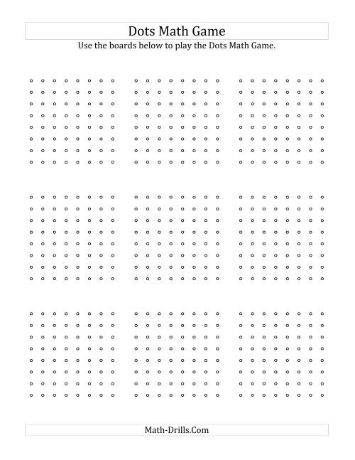 The Dots Math Game Boards for Offline Use Math Worksheet