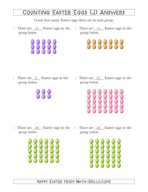 The Counting Easter Eggs in Rectangular Arrangements (J) Math Worksheet Page 2