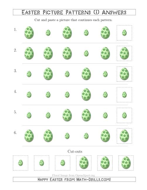 The Easter Egg Picture Patterns with Size Attribute Only (I) Math Worksheet Page 2