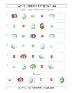 Easter Egg Picture Patterns with Shape, Size and Rotation Attributes (A)