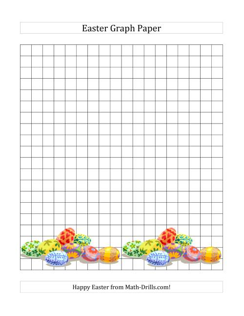 The Centimeter Graph Paper for Easter (A) Math Worksheet