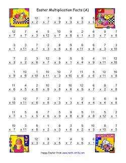 Easter Multiplication Facts to 144