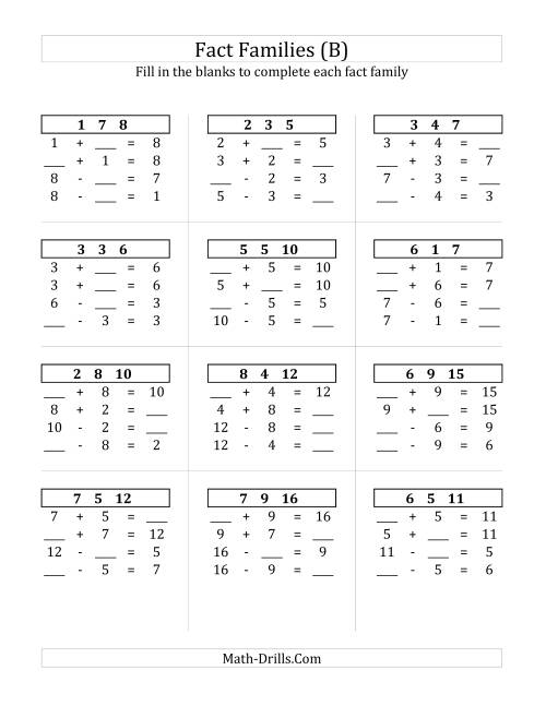 math worksheet : addition and subtraction fact family worksheets 3rd grade  frosty  : Fact Family Worksheets Multiplication And Division