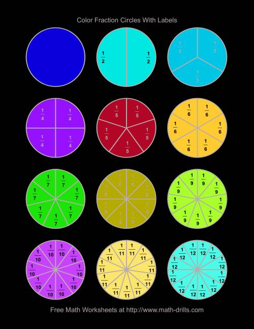 It is a photo of Unforgettable Fraction Circles Printable