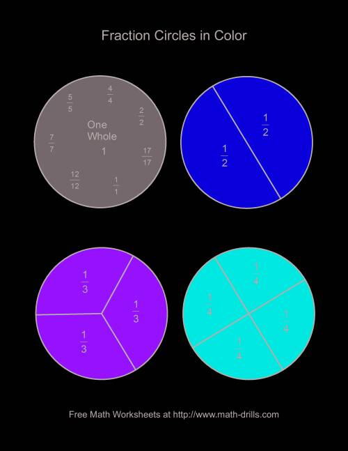 math worksheet : color fraction circles  large labeled fractions worksheet : Fraction Circle Worksheets