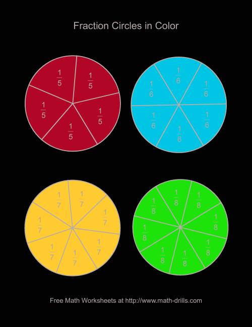 graphic about Printable Fraction Circles known as Colour Portion Circles -- Heavy Categorized