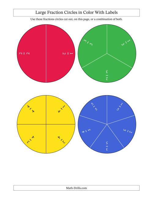 Color Fraction Circles Small Unlabeled Fractions Worksheet – Fraction Circle Worksheets