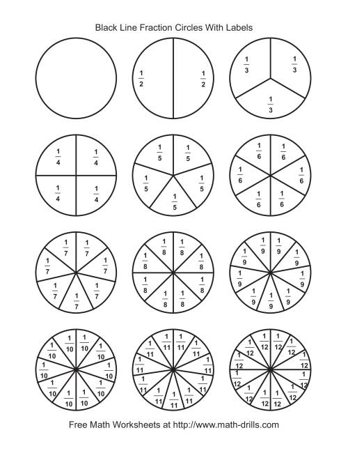 It's just a picture of Soft Fraction Circles Printable