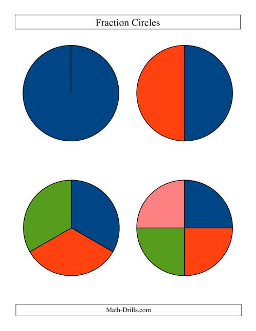 The All Unlabeled Fraction Circles (All) Math Worksheet