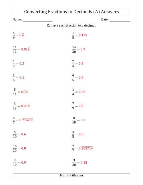 Terminating And Repeating Decimals Worksheet 001 - Terminating And Repeating Decimals Worksheet