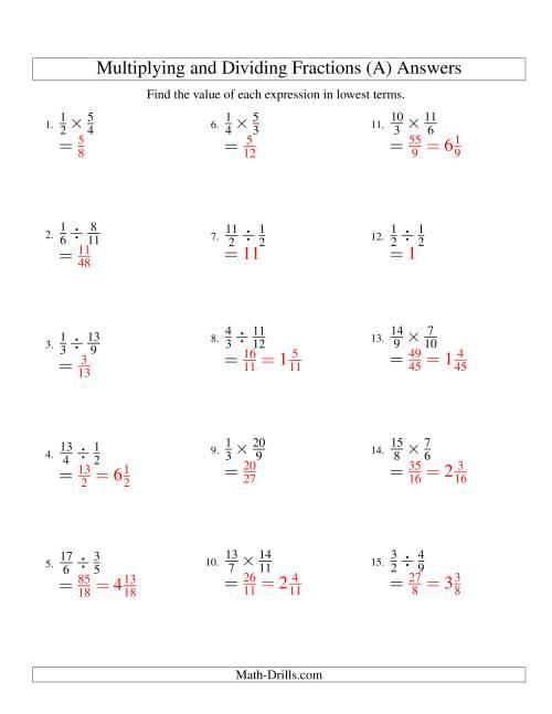 Dividing Fractions Worksheet - Worksheet | Phinixi