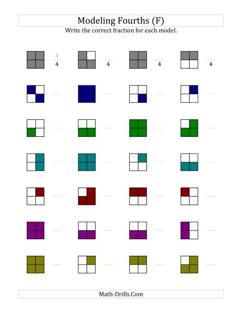 Modeling Fractions Worksheets – Understanding Fractions Worksheets