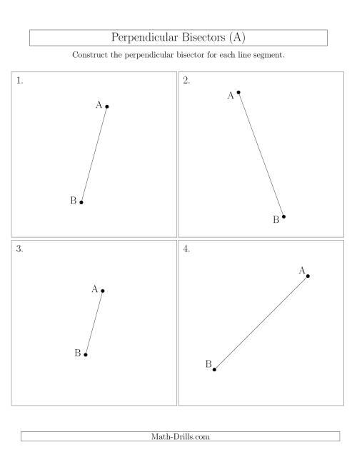 perpendicular bisectors of a line segment a geometry worksheet. Black Bedroom Furniture Sets. Home Design Ideas