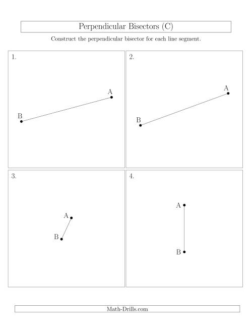 The Perpendicular Bisectors of a Line Segment (C) Math Worksheet